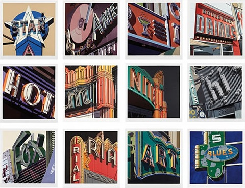 american signs - complete suite by robert cottingham