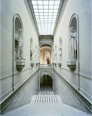 escalier de l'aile du nord, chateau de versailles by robert polidori