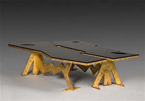 execptional pair of « dragon » coffee tables by libor david