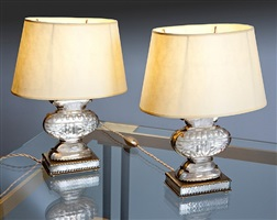 beautiful pair of table lamps, « antique vase » model by atelier bagues