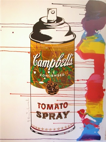 gold tomato spray by mr. brainwash