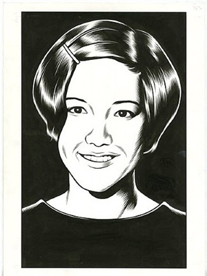 portrait from black hole: before by charles burns