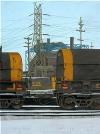 tracks in the snows (csx) by tom roese
