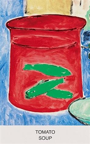 eight soups: tomato soup by john baldessari