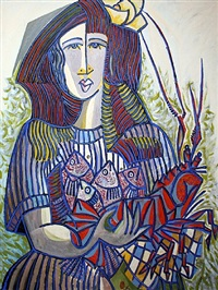 mujer con crustaceo by jesus fuertes