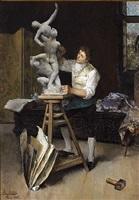 the sculptor by luis jimenez y aranda