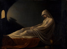 painting of a reclining vestal attributed to pietro saja by pietro saja