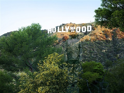 hiding in california no. 2 - hollywood by liu bolin