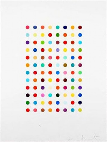 xylene cyanol dye solution by damien hirst