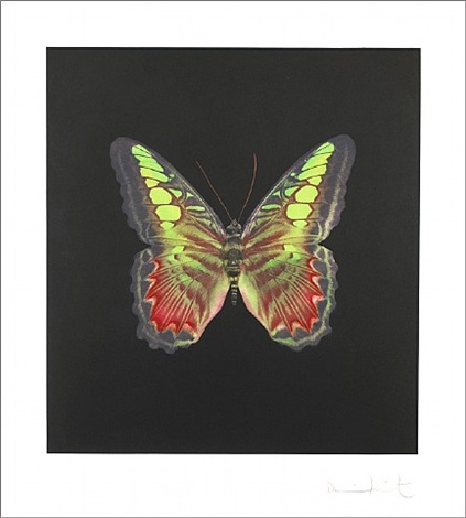 the souls on jacob's ladder take their flight – green/red by damien hirst