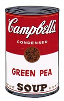 campbells soup i: green pea (ii.50) by andy warhol
