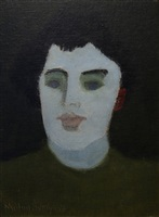 girl with blue eyes by milton avery