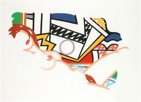 monica nude with lichtenstein by tom wesselmann