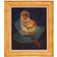 orientalist maternité by louis toffoli
