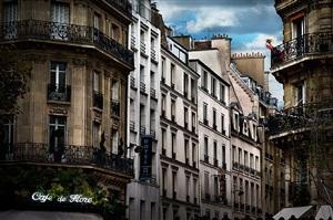 red dress in paris by david drebin
