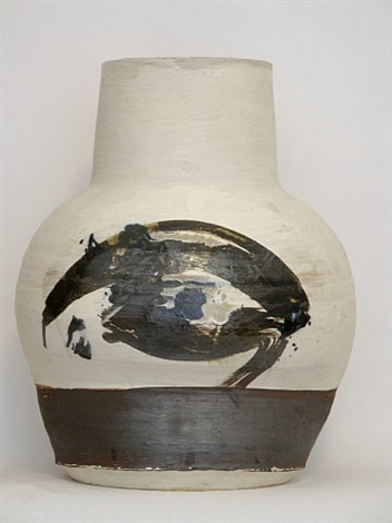 large vase by paul soldner