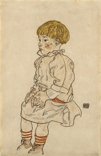portrait of anton peschka jr. by egon schiele