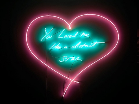 you loved me like a distant star by tracey emin