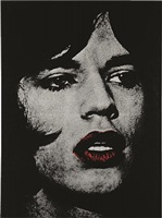 mick jagger (red lips) by russell young