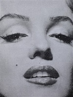 marilyn monroe portrait (close up) by russell young