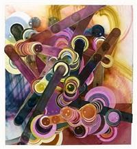 smoke painting #26 by rosemarie fiore