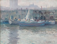 boston harbor by mabel may woodward