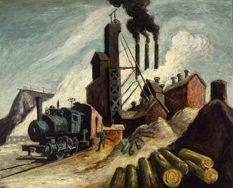 lumber mill by thomas hart benton