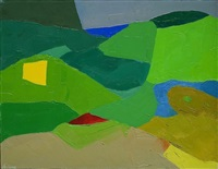 untitled, # 18 by etel adnan