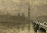 fog over westminster bridge by giuseppe de nittis