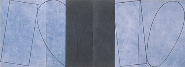 varied figure zone (4 part) by robert mangold