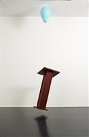 untitled (lectern) by tom friedman