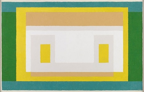variant with first green by josef albers