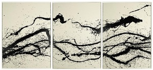 """installation v, a, b, c - from the serie """"walking / painting"""" by fabienne verdier"""