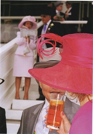 pink hat, from the luxury series by martin parr