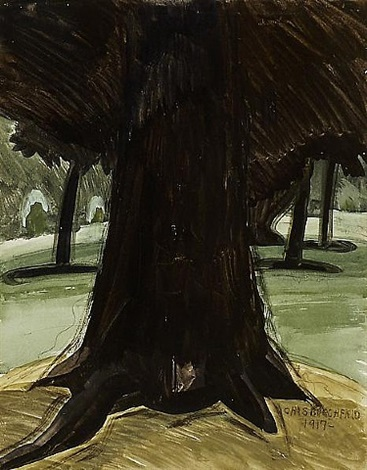 black tree (gloomy tree) by charles ephraim burchfield