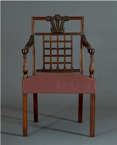the westminster fire office chairs: a highly important set of twenty-two carved mahogany dining chairs by ince and mayhew