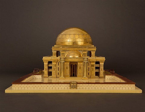 a massive architectural model of the temple of king solomon in jerusalem to a design by thomas newberry, built by messrs. bartlett of king street, london