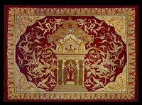 an important aubusson carpet to a design by eugene viollet-le-duc for the cathedral of notre dame de paris by eugene emmanuel viollet-le-duc
