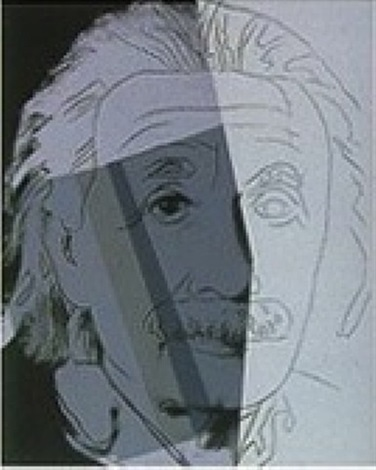 albert einstein (from the ten portraits of jews portfolio) by andy warhol