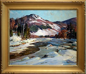 afternoon on the west river, vermont by aldro thompson hibbard