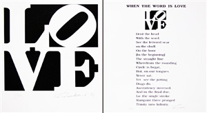 when the word is love poem 1 by robert indiana