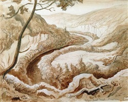buffalo river - upper goat trail - ponca by thomas hart benton
