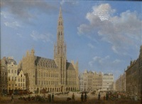the brussels city hall by augustus wijnantz