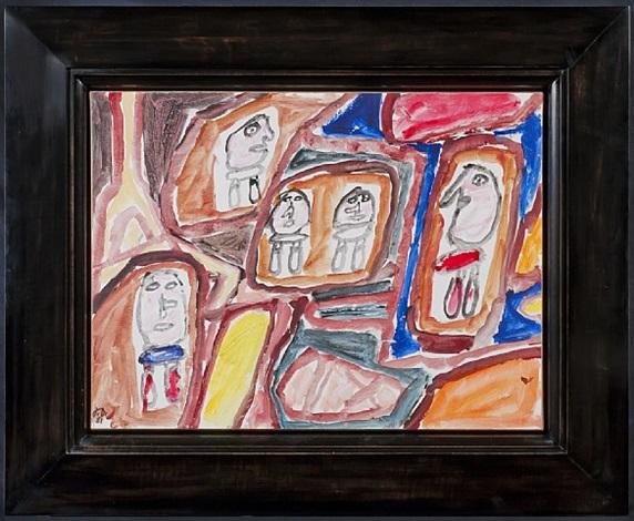site avec 5 personnages (e 296) 11 septembre 1981 by jean dubuffet
