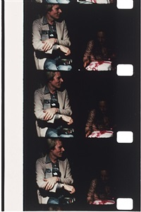 andy warhol at tina radziwill's birthday party, 1972, montauk by jonas mekas