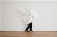 wrapped figure by daniel arsham