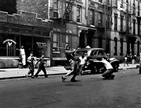stickball, new york city by arthur leipzig