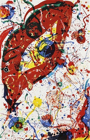 untitled (sf-331) by sam francis