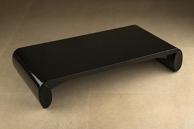 table basse « chinoise » en bois laqué noir by émile jacques ruhlmann