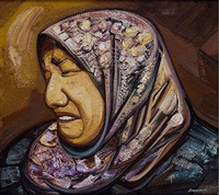 untitled (mujer en drama) (sold) by david alfaro siqueiros